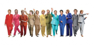 Hillary of the Many-Colored Pantsuit